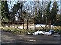 TL1488 : Iron railings at Caldecote by Michael Trolove