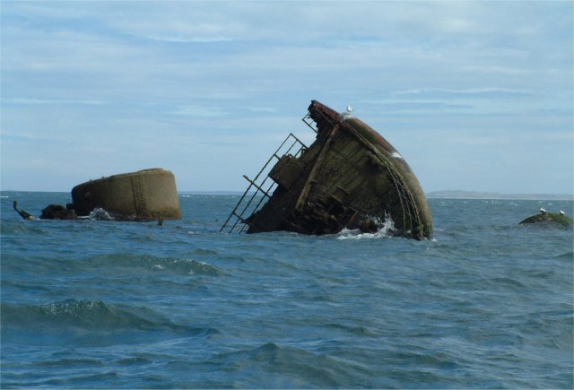 Remains of a steamer