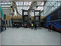 TQ3179 : Waterloo International station concourse by Oxyman