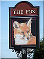 TL1489 : Pub sign at Folksworth by Michael Trolove