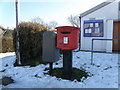 TL1489 : Dumpy postbox, Folksworth by Michael Trolove