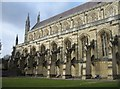 SU4829 : Fine example of buttresses - Winchester by Given Up