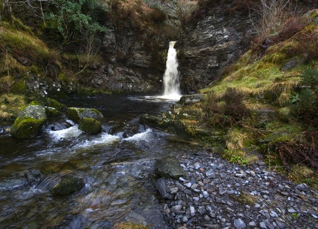 Grey Mares Tail Burn And Waterfall