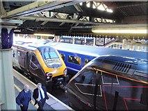 SX9193 : Train jam at Exeter St Davids by Derek Harper