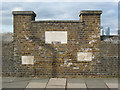 TQ3878 : Thames flood level markers at Trinity Hospital, Greenwich by Stephen Craven