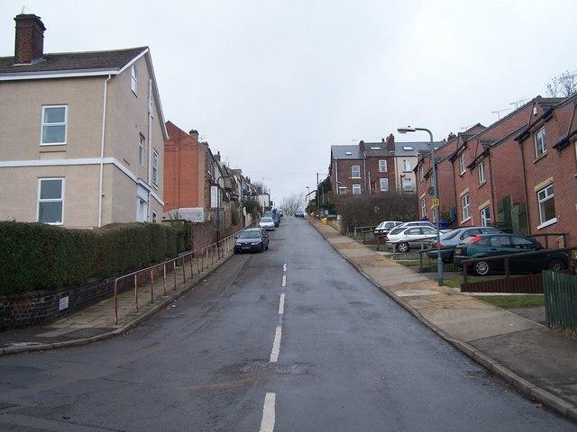 Looking Up Blake Street, Sheffield
