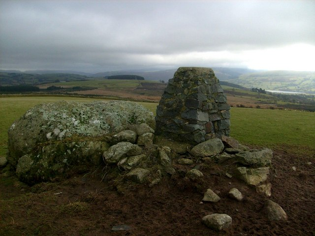 Brynllech trig looking SE