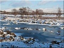 NN3049 : Watercourse winter scene by Loch Ba by Johnny Durnan