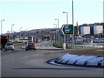 NS3174 : The A8 in Port Glasgow by Thomas Nugent