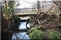 SO7943 : Sluice and footbridge, Upper Arles Wood by Bob Embleton