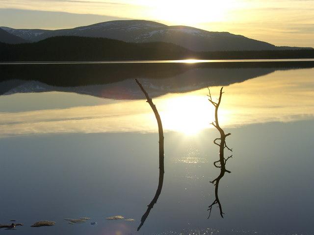 Sun Setting on Loch Morlich