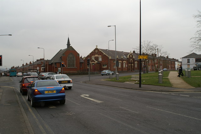 Lamberhead Green Independent Methodist Church on the junction of Ormskirk Road and Enfield Street
