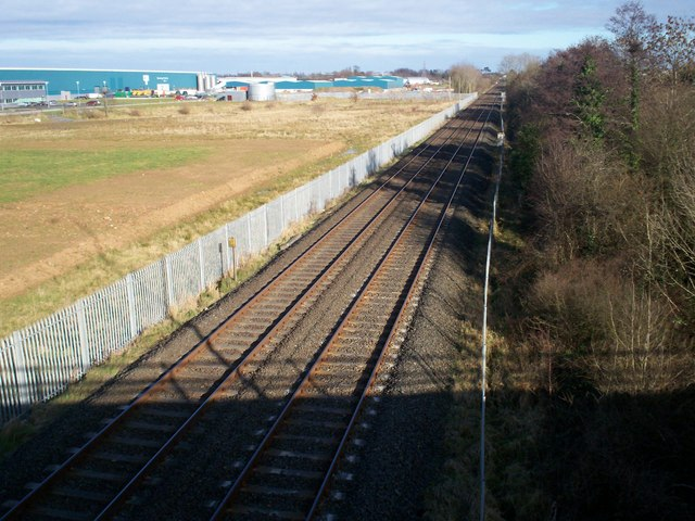 Dublin to Belfast Railway Line near Lurgan