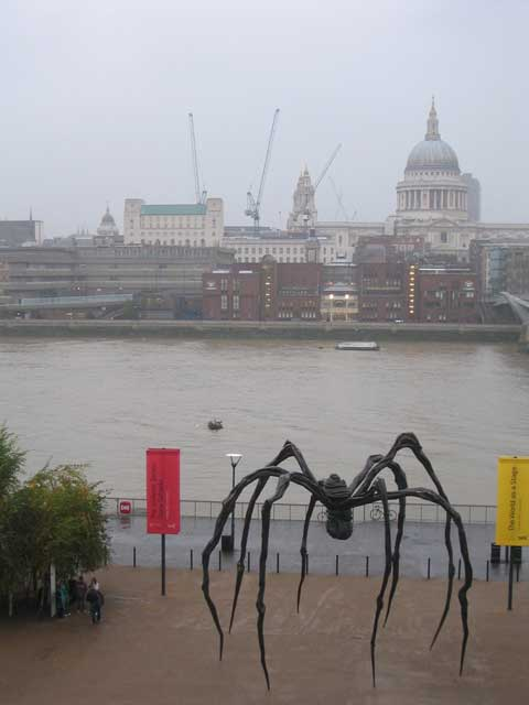Thames with Bourgeois spider