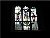 SU3521 : Delightful stained glass window in Romsey Abbey by Basher Eyre