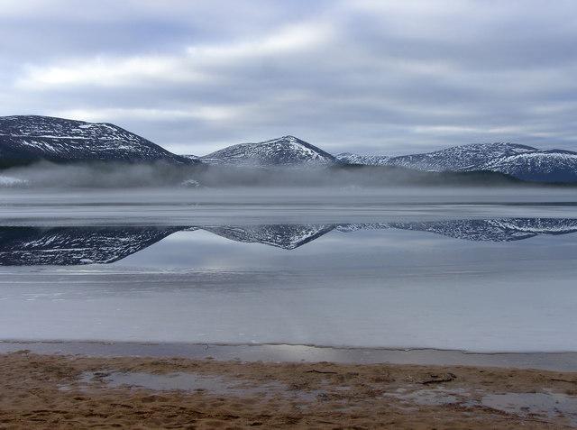 Frozen Loch Morlich