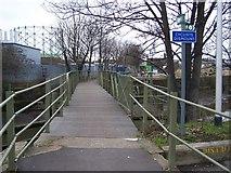 TQ5474 : Footbridge over the River Darenth by David Anstiss