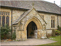 SD9772 : St Mary's Church, Kettlewell, Porch by Alexander P Kapp