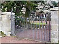 NT9910 : Gate to the Vicarage, Alnham by Andrew Curtis
