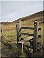 SJ1465 : Stile and Footpath to Cilcain by David Quinn