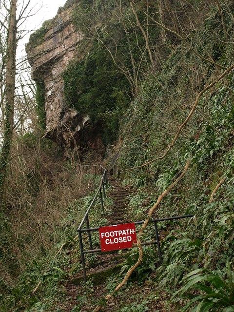 Closed footpath, Babbacombe