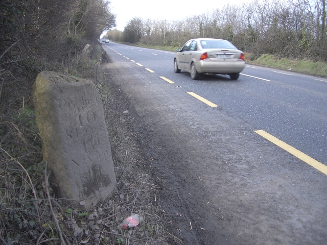 Milestone at Baltrasna, north of Ashbourne, Co. Meath
