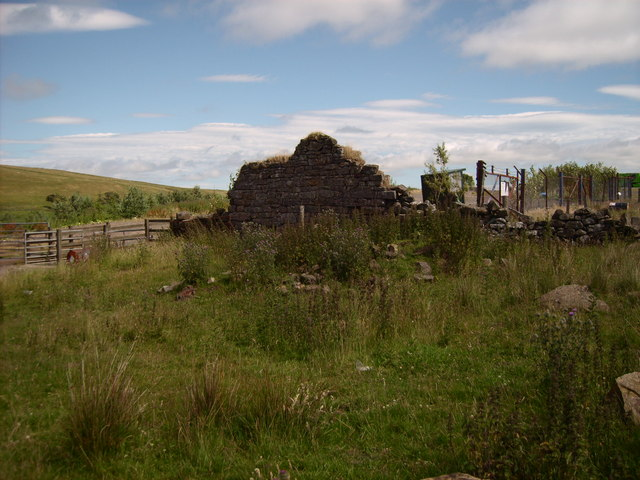 Remains of Weighing house at Lethans mine West Lethans Farm