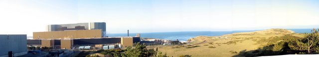 Wylfa Nuclear Power Station from the observation point