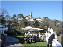 SH5837 : Portmeirion - from the lawn in front of the Portmeirion Hotel by Ian Cunliffe
