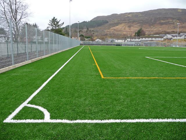 Portree High School playing field