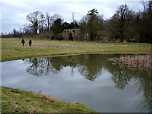 TM3669 : Remains of Sibton Abbey reflects in pond by John Goldsmith