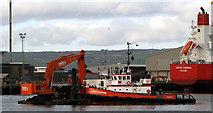 J3576 : Dredging barge, Belfast by Rossographer