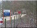 TQ6559 : Footpath crosses Hanson Quarry entrance by David Anstiss