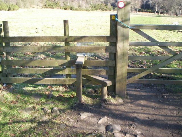 Stile near the toll booth Hamsterley Forest
