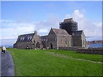 NM2824 : St, Columba's Abbey at Iona by James Denham