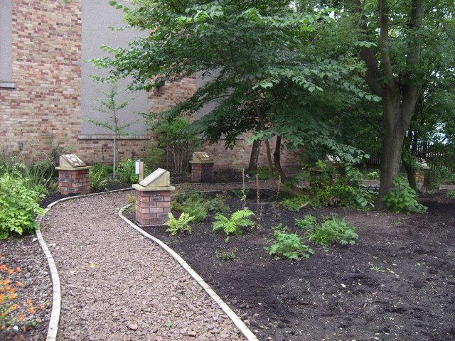 Part of garden at Scottish Mining museum