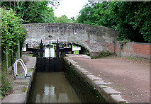 SJ9922 : Haywood Lock No 22, Trent and Mersey Canal, Staffordshire by Roger  Kidd