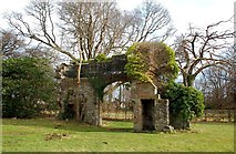 NS3218 : Remains of Cambusdoon House by Mary and Angus Hogg