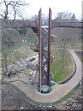 TQ1876 : Kew Gardens. Lift and staircase to the Treetop Walkway by pam fray