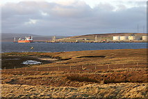 HU3973 : Sullom Voe Terminal from the Houb of Scatsta by Mike Pennington