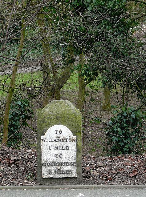 Milestone on Penn Road, Wolverhampton