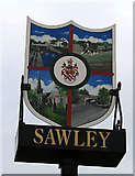 SK4731 : Sign for Sawley by David Lally
