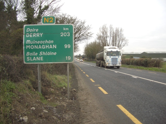 Road Sign on the N2 at Primatestown, Co. Meath