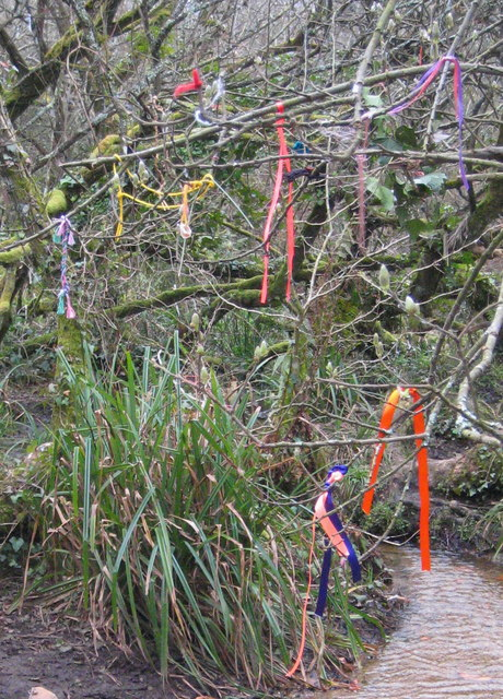 The cloutie tree near Madron Well by Rod Allday