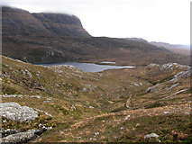 NC1719 : Hillside above north end of Loch na Gaimimh by Marion Boyle