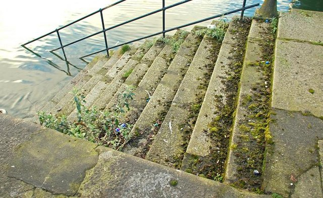 Old steps, Donegall Quay, Belfast