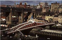 NZ2563 : Newcastle Swing Bridge and High Level Bridge by Chris Allen