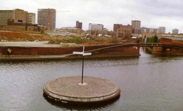 Canal Roundabout 1989 Birmingham