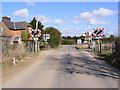 TM2539 : Level Crossing, Stratton Drift, Levington by Adrian Cable