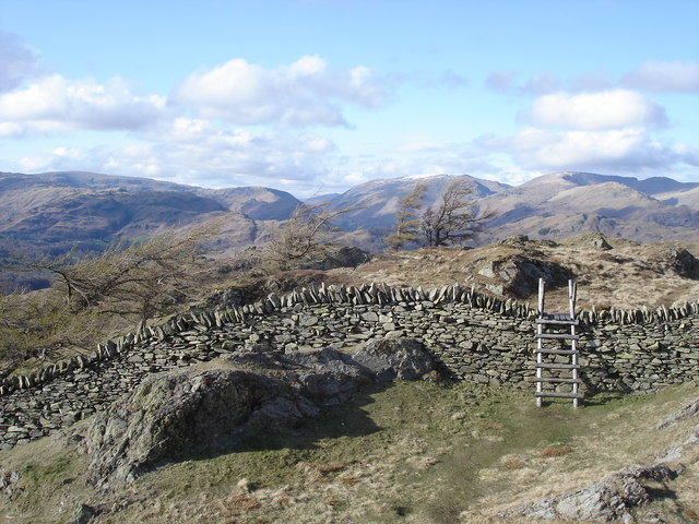 Black Crag - stile just north of the summit